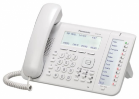 Telefon proprietar Panasonic model KX-NT556X, IP, alb