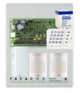 Kit centrala alarma Sp4000,Paradox  Kit S4-2P