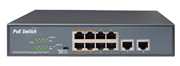 Switch PoE  IP View,  8+2 porturi, 10/100Mbps, IW3010FSN